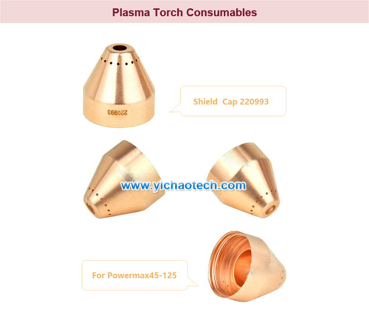 YOPOTIKA Plasma Shield Cup Cap Cutting Torch Consumables Cutting Shield for MAX125