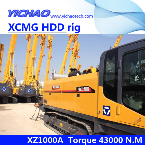 100ton XZ1000A hdd rig for trenchless pipe laying