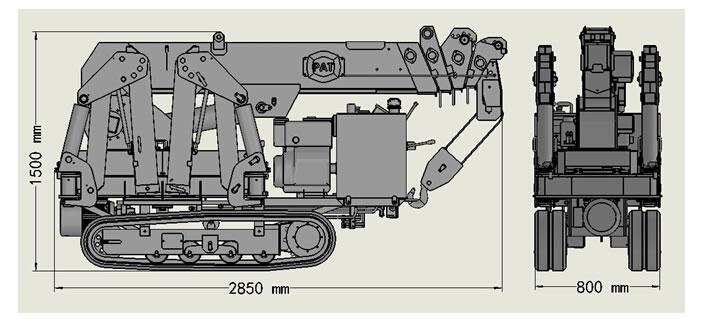 China brand mini spider hydraulic crawler crane