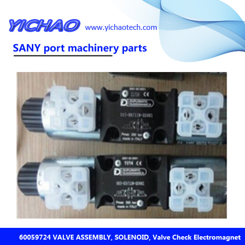 Sany machinery parts VALVE ASSEMBLY, SOLENOID, Valve Check Electromagnet