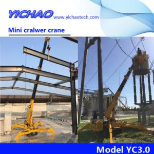 China electrical mini spider crawler crane