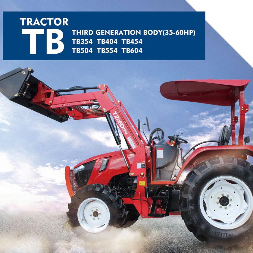 TB354/TB404/TB454/TB504/TB554/TB604 tractor