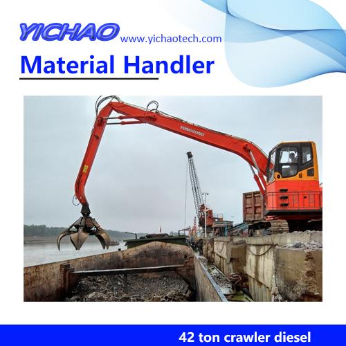 Steel Mills Recycling Demolition Handling Machine,42 ton Crawler Excavator YGSZ420