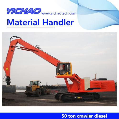 50 ton Hydraulic Steel Grab Wheel Material Handling Machine YGSZ500