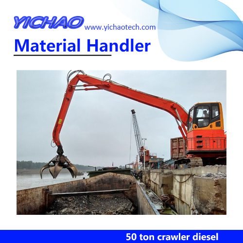 50 ton Timber Rotating Grab Wheeled Material Handling Machine YGSZ500