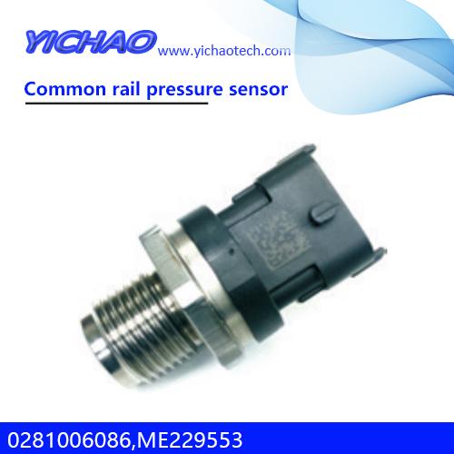 SANY SY215 excavator,4M50 engine spare parts Common rail pressure sensor 0281006086,ME229553