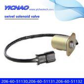 KOMATSU PC200-6/210-6/220-6/240-6/6D102 excavator parts swivel solenoid valve 206-60-51130,206-60-51131.206-60-51132