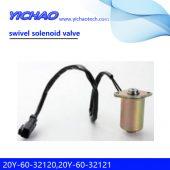 KOMATSU PC130-7/160-7/200-7/210-7/360-7,CAT 320E320/E312 excavator parts swivel solenoid valve 20Y-60-32120,20Y-60-32121