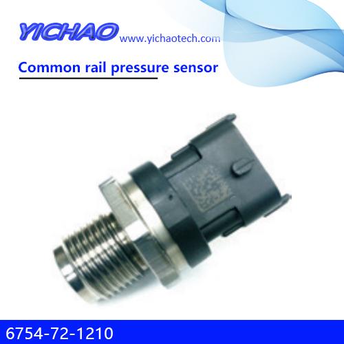 KOMATSU PC200-8/210-8/220-8/240-8,KOBELCO SK115/135/235 excavator spare parts Common rail pressure sensor 6754-72-1210