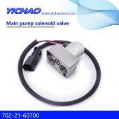 KOMATSU PC220-8/200-8 excavator parts Main pump solenoid valve 702-21-60700
