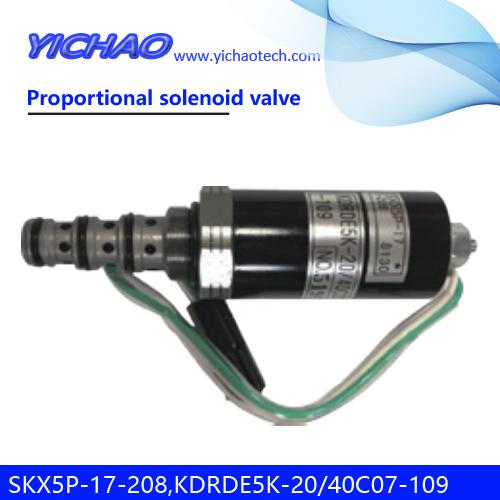 KOBELCO SK200-6E/DH/VOLVO/HYUNDAI/SANY excavator parts Proportional solenoid valve SKX5P-17-208,KDRDE5K-20/40C07-109