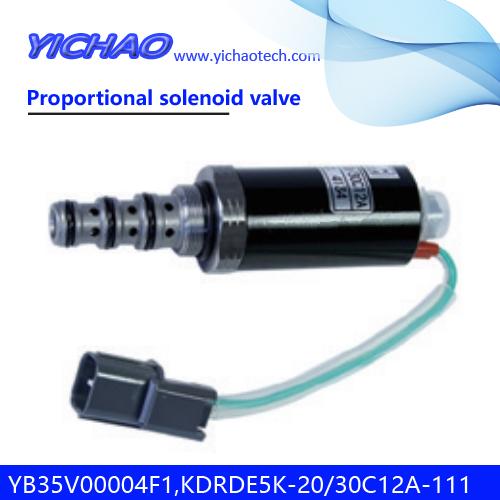 KOBELCO SK120/100/220/200-2 excavator parts Proportional solenoid valve YB35V00004F1,KDRDE5K-20/30C12A-111