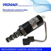 KOBELCO SK200-6E/230-6E/250-6E excavator parts Directional control valve YB35V00005F1,KWE5K-20/G24D12A