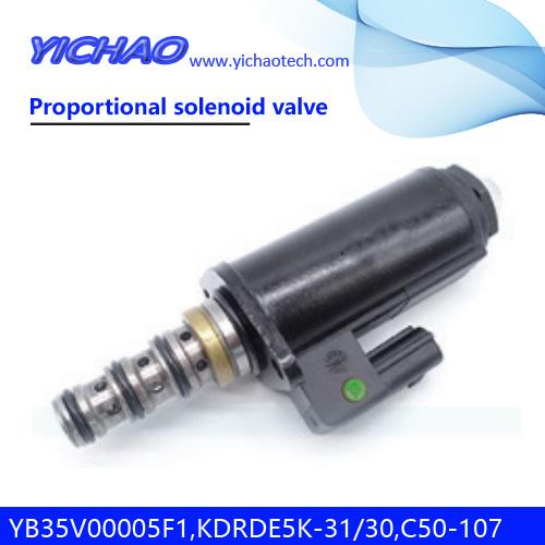 KOBELCO SK120/100/220/200-2 excavator spare parts Proportional solenoid valve YB35V00005F1,KDRDE5K-31/30C50-107