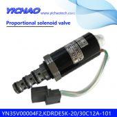 KOBELCO SK120/100/220/200-2 excavator parts Proportional solenoid valve YN35V00004F2,KDRDE5K-20/30C12A-101