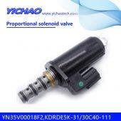 KOBELCO SK100/120/200-3/SK130 UR6/320/330/350-6E excavator parts Proportional solenoid valve YN35V00018F2,KDRDE5K-31/30C40-111