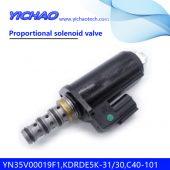 KOBELCO SK100/120/130UR/320/330/200-3/350-6E excavator parts Proportional solenoid valve YN35V00019F1,KDRDE5K-31/30,C40-101