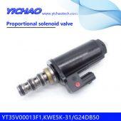 KOBELCO SK200-6E/230-6E/250-6E excavator parts Proportional solenoid valve YT35V00013F1,KWE5K-31/G24DB50