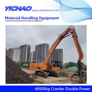 China 49500kg Crawler Electrical Diesel Engine Dual Power Material Handling Equipment Manufacturer for Wood and Steel Grabbing