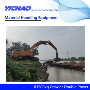 China 83500kg Crawler Electrical Diesel Engine Dual Power Material Handling Equipment Manufacturer for Wood and Steel Grabbing